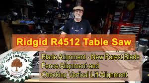 Aligning Blade Fence On Ridgid R4512 Table Saw Ep 2020 08 Youtube