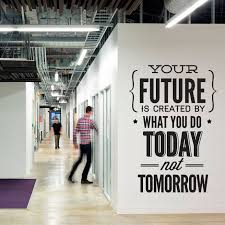Wall Decal Quotes Vinyl Quote Do It Today Not Tomorrow Wall Office Sticker Decor Office Wall Art Vinyl Quotes Wall Quotes Decals