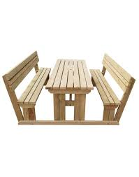 picnic tables with back rest fast and