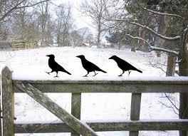 crow garden lawn ornaments metal