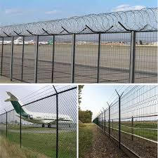 China Anping Factory High Quality Security Cheap Garden Vinyl Fence Metal Fence Panels China Airport Fence Fence With Barbed Wire