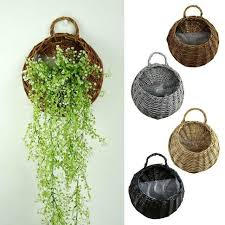rustic wicker rattan wall hanging