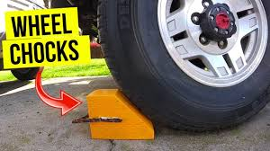 wheel chocks for your car truck or rv