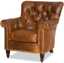 bradington young leather club chair