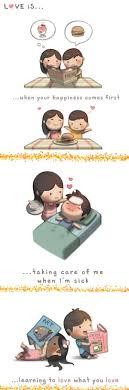 love story in cartoon