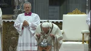 Chrism Mass with Pope Francis from St. Peter's Basilica 18 April ...