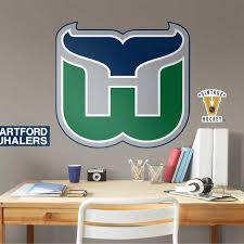 Hartford Whalers Vintage Logo Giant Officially Licensed Nhl Removable Wall Decal By Fathead