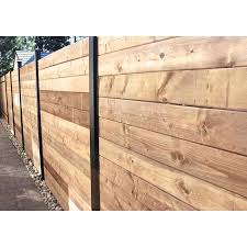 Slipfence Slipfence Horizontal System 1 5 In X 1 5 In X 5 83 Ft Black Aluminum Wood Fence Rail Lowes Com In 2020 Wood Fence Fence Design Horizontal Fence