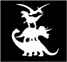 Vinyl Decal Dinosaur Stacked Monster Fun Truck Country Bumper Etsy