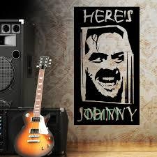 The Shining Heres Johnny Jack Nicholson Wall Room Decor Art Vinyl Decal Movie Actor Sticker Mural H105cm X W57cm Sticker Mural Room Decorationdecoration Art Aliexpress