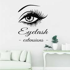 Eye Eyelashes Extensions Wall Decal Art Vinyl Home Wall Decor Large Lashes Eyebrows Wallpaper Diy Wall Stickers New Arrival Z790 Wall Stickers Aliexpress