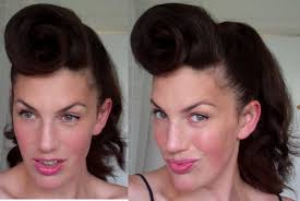 how to do 50 s hair and makeup