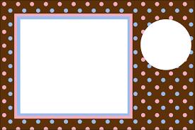 Lunares Celeste Y Rosa En Fondo Chocolate Invitaciones Para Imprimir Gratis Oh My 15 Anos