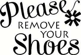 Please Remove Your Shoes Wall Sticker Vinyl Decal The Wall Works