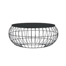 orsino coffee table black metal glass top