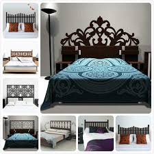 New Brief Baroque Pattern Style Headboard Decal Bed Vinyl Wall Sticker Beautiful Flower Bedroom Dorm Wall Decor Home Decoration Aliexpress