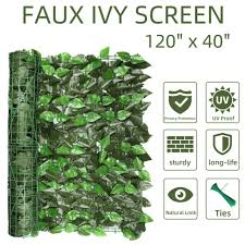 Verseo Faux Ivy Greenery Yard Decoration Ivy Hedge Privacy Screen Expandable For Sale Online Ebay