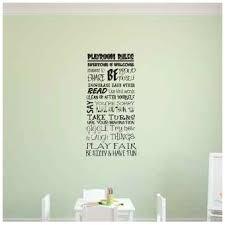 Zoomie Kids Vanessa Playroom Rules Wall Decal Wayfair