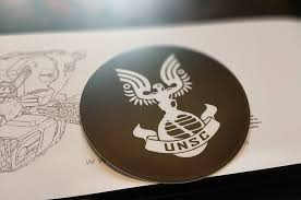 Halo Unsc Insignia Vinyl Sticker Decal Etsy