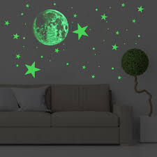 Glow In The Dark Stickers Glowing Moon Stars Dots For Ceiling And Wall Decals For Kids Room Boys Gir In 2020 Kids Wall Decals Children Room Boy Boy Girl Bedroom
