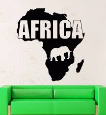 Africa Map Vinyl Wall Decal Map Africa Animals Continent Geography Mural Art Wall Sticker Bedroom Living Room Home Decoration Home Decor Art Wall Stickervinyl Wall Decals Aliexpress