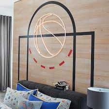 Basketball Court Peel And Stick Wall Decal Pottery Barn Teen