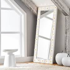 marquee light mirrors pottery barn teen