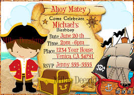 Pirate Treasure Map Birthday Party Invitations Pirate Invitations