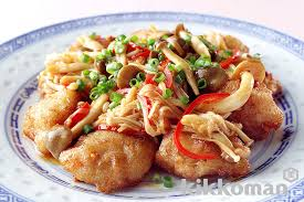 sour shrimp and lotus root