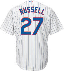 Amazon.com: Addison Russell Chicago Cubs White Youth Cool Base ...