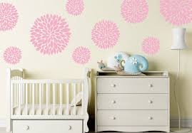 Floral Wall Decals Flower Wall Decal Nursery Wall Decal Etsy
