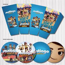 Kit Imprimible Personalizado Candy Bar Playmobil Pelicula 390