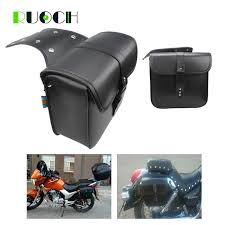 motorcycle saddle bag side bags leather