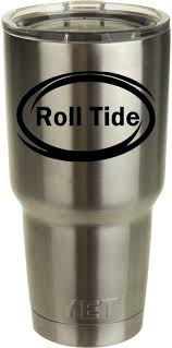 Amazon Com Classy Vinyl Creations Roll Tide Decal Black For Yeti Tumbler We Don T Sell Tumblers Decal Alabama Crimson Tide Decal Ozark Trail Tumber Black Or White Decals 2 75 H X 4 W