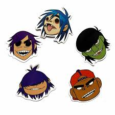 5pcs Cool Blur Gorillaz Music Band Cart Sticker For Backpack Table Pvc Skateboard Motorcycle Helmet Car Styling Car Accessories Car Stickers Aliexpress
