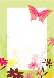 Invitaciones De Flores Y Mariposa Para Imprimir Crear