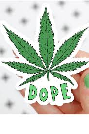 Turtle S Soup Dope Marijuana Leaf Weed Vinyl Sticker Standard Goods