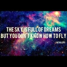 the sky is full of dreams but you don t know how to fly picture
