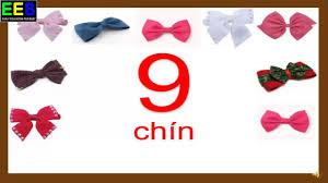 Bé đếm số từ 1đến 10|Bé học số| Bé học số tiếng anh và tiếng Việt ...