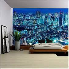 Wall26 Tokyo Skyline Shinjuku Japan Removable Wall Mural Self Adhesive Large Wallpaper 100x144 Inches Amazon Com