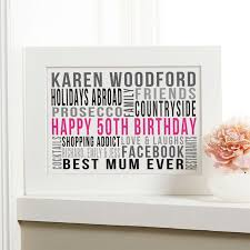50th birthday gifts for her women s