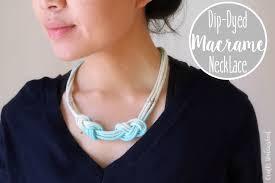 macrame diy dip dyed necklace tutorial