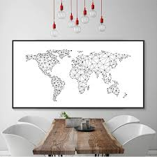 Abstract Nordic Design Black White World Maps Country Name Word Maps Nordicwallart Com