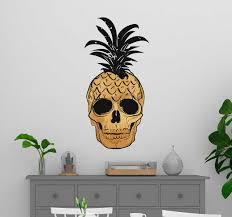 Pop Art Pineapple Wall Art Sticker Tenstickers