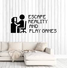 Vinyl Wall Decal Gamer Quote Video Game Gaming Pixel Art Stickers Uniq Wallstickers4you