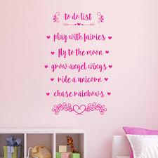 To Do List Play With Fairies Girls Room Vinyl Wall Art Sticker Decorative Wall Design Decoration Wall Sticker Decorationwall Designs Aliexpress