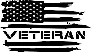 Amazon Com American Flag Veteran Army Marines Navy Air Force Coast Guard Vinyl Decal Usa 6 5 X3 7 Inches Black Automotive