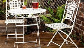 outdoor bistro table and chair set