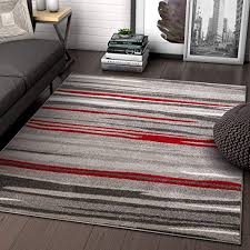 well woven rocoso stripes red geometric