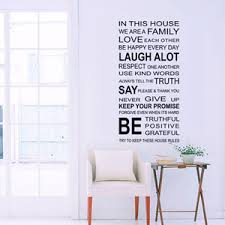 In This House English Diy Wall Stickers Home Decor Living Room Sofa Wall Decals Home Decoration We Are Family Wallpaper Home Decor Decals Home Decor Sticker From Saveach 3 39 Dhgate Com